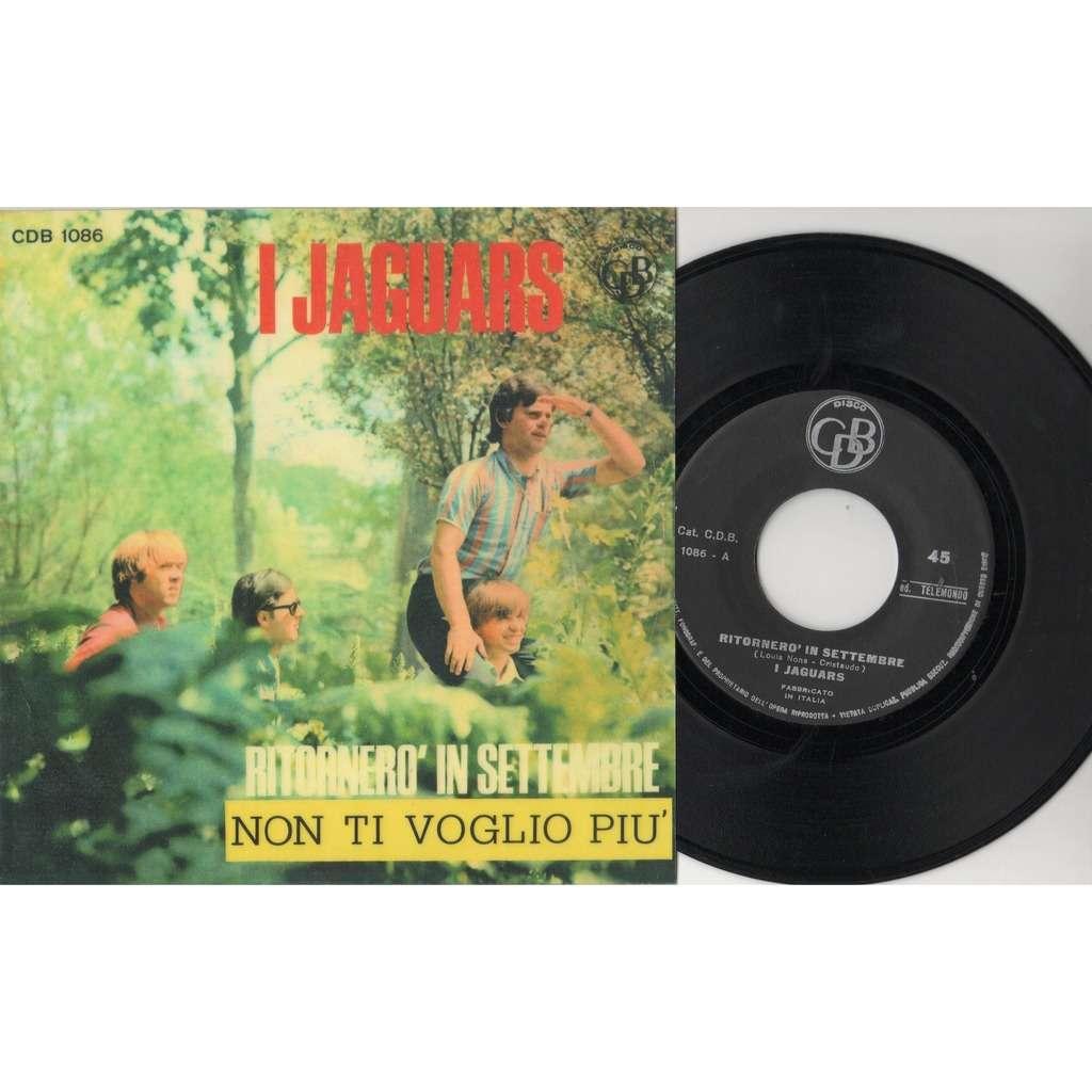 I Jaguars Ritornerò In Settembre (Italian 1966 'stock' 2-trk 7single on CDB lbl full corrected 'plastific' ps)