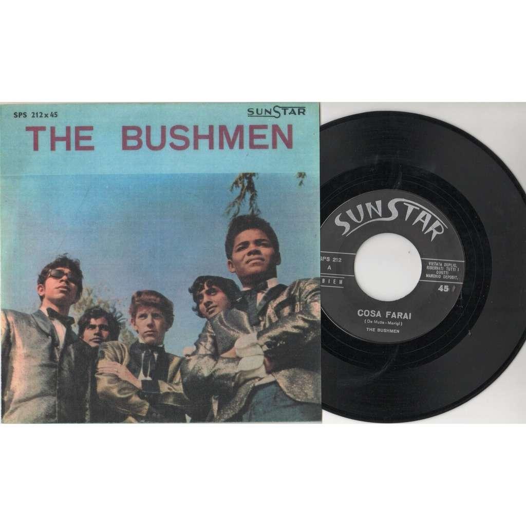 The Bushmen Cosa farai (Italian 1965 original 2-trk 7single 'plastificated' ps)