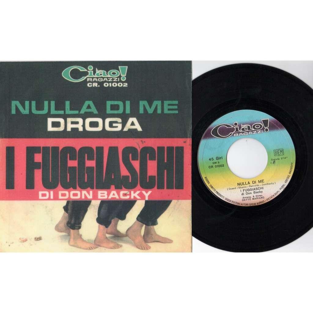 I Fuggiaschi Di Don Backy / Adriano Celentano Nulla Di Me (Italian 1965 original 2-trk 7single 'plastificated' ps)