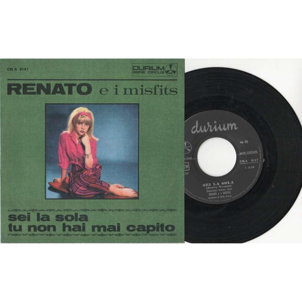 Renato e i Misfits Sei La Sola (Italian 1965 original 2-trk 7single 'plastificated' ps)