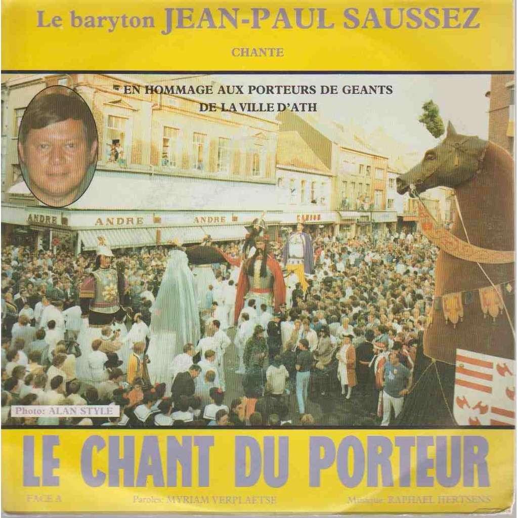 Le baryton JEAN-PAUL SAUSSEZ Le chant du porteur de Géant de la Ville d'Ath.
