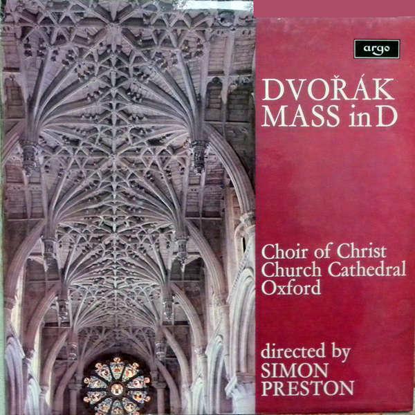 simon preston Dvorak - Mass in D