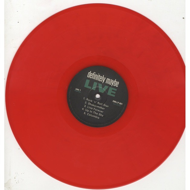 Oasis Definitely Maybe Live Red vinyl