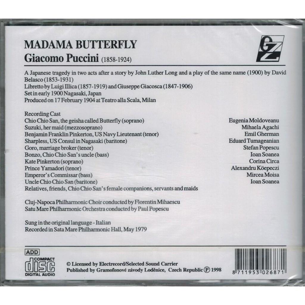 Madama butterfly / paul popescu by Puccini, Giacomo, CD x 2 with melomaan