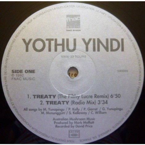YOTHU YINDI Treaty (original French press - 1992)