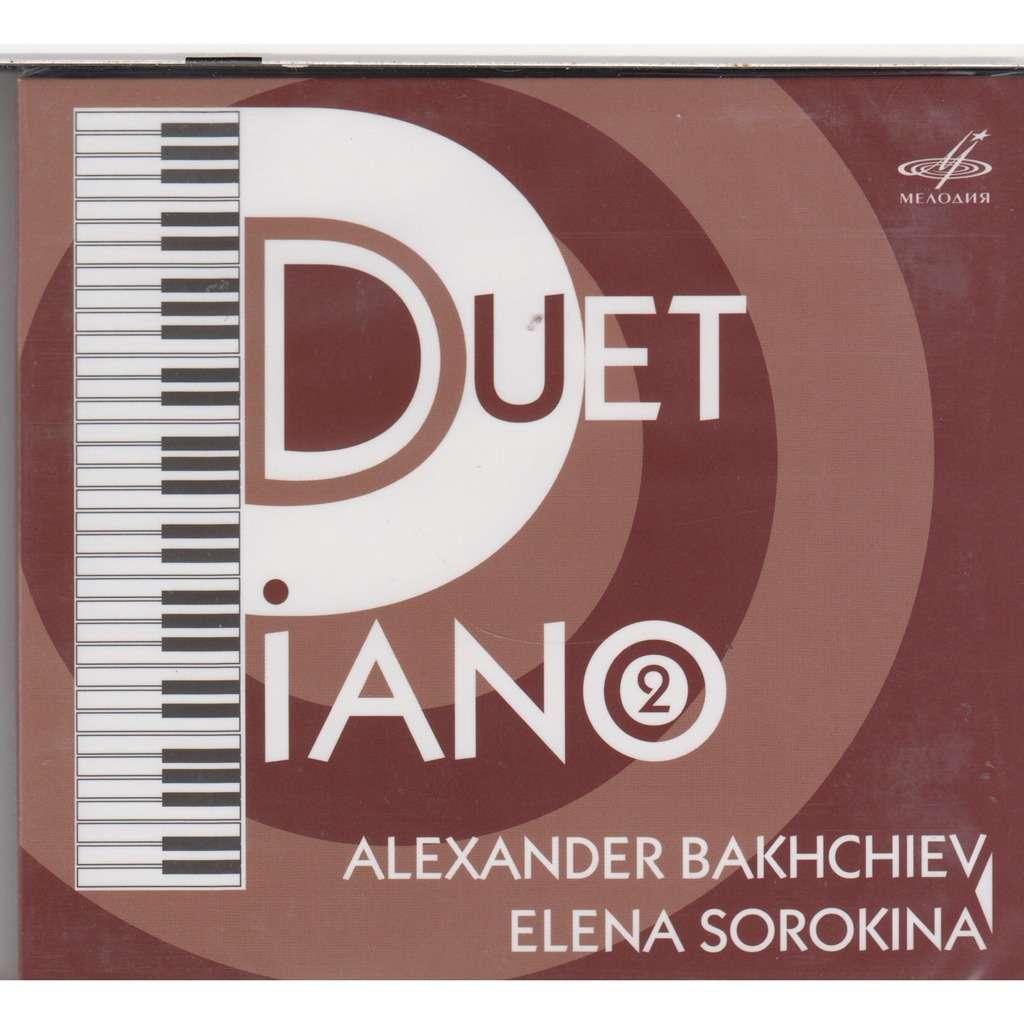 Alexander Bakhchiev, Elena Sorokina Piano Duet Vol 2 Mozart Five Sonatas  Rec 1980 CD MEL NEW 2017