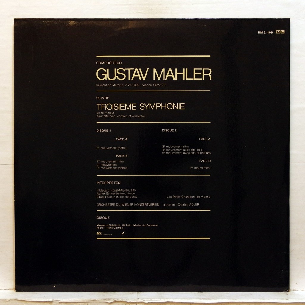 Hildegard Rossl-Majdan Mahler : Symphony no.3