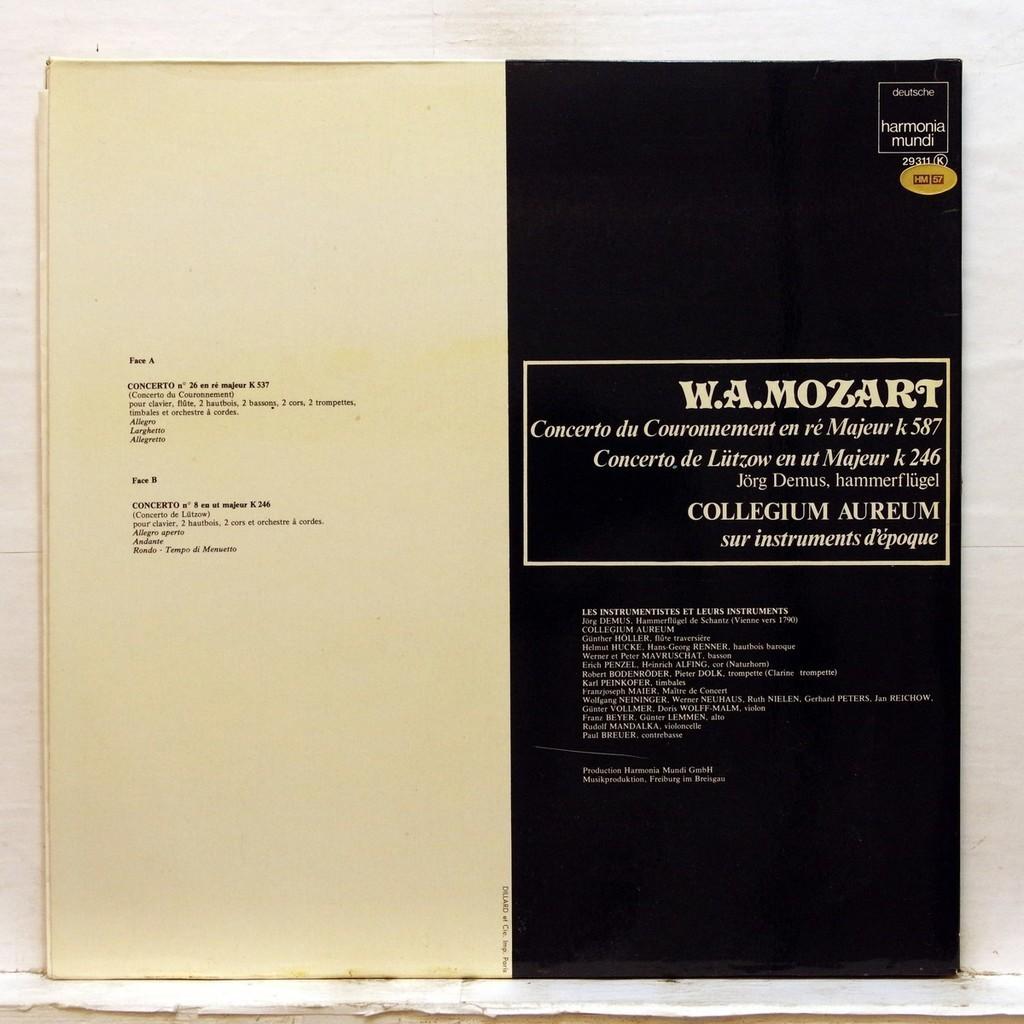 Jorg Demus Mozart : Concerto nos.26 & 8