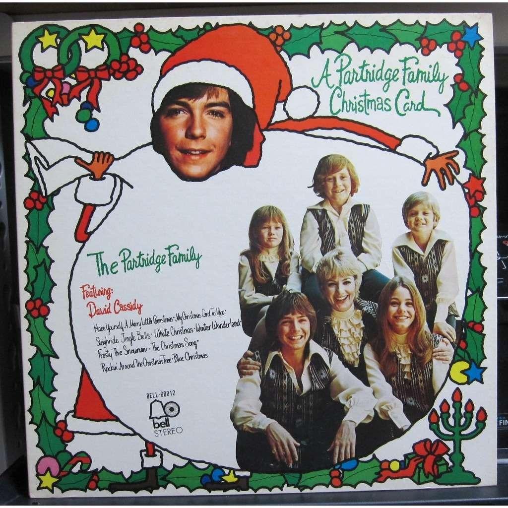 Partridge Family Christmas Card -white label promo-