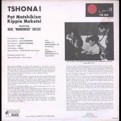 Pat Matshikiza, Kippie Moketsi, Basil Mannenberg Tshona !