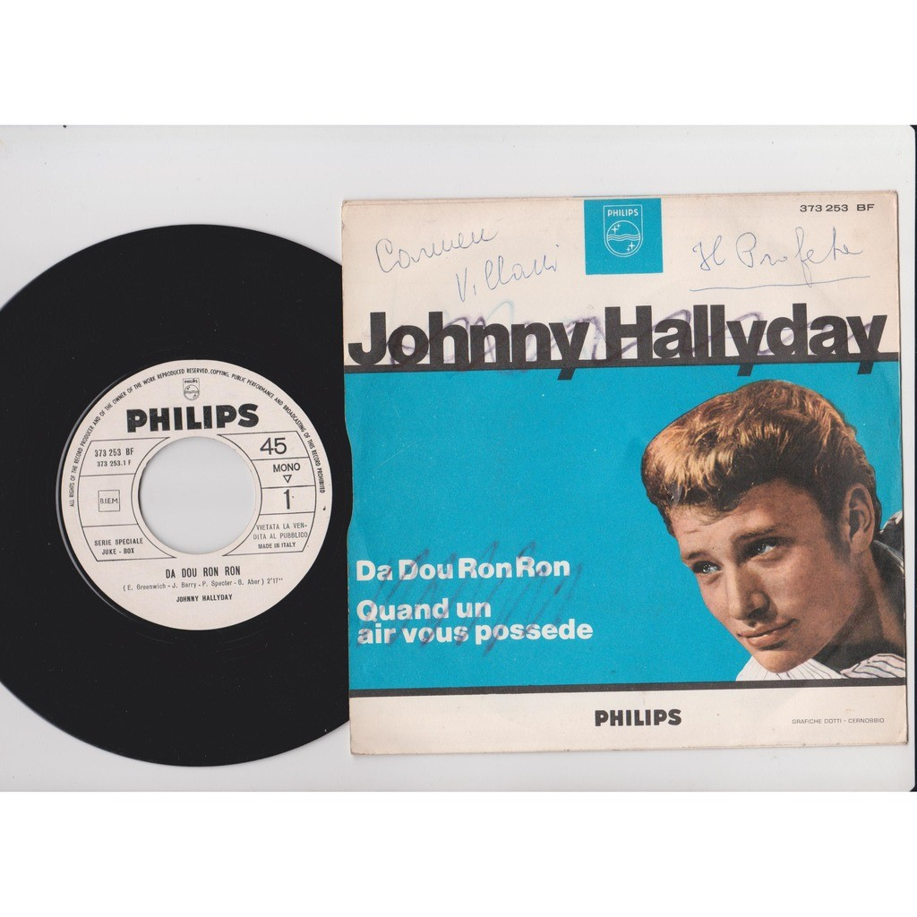 Johnny Hallyday Da Dou Ron Ron / Quand Un Air Vous Possede