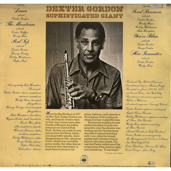 Image result for dexter gordon saxophone sophisticated giant
