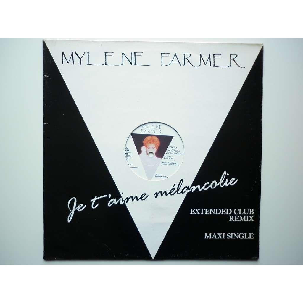Mylene Farmer Je Taime Mélancolie