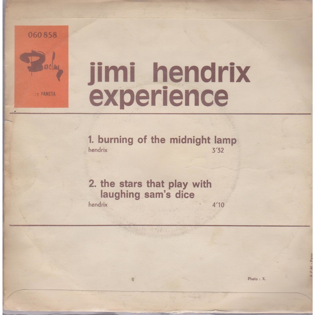 ... Jimi Hendrix Experience Burning Of The Midnight Lamp ...