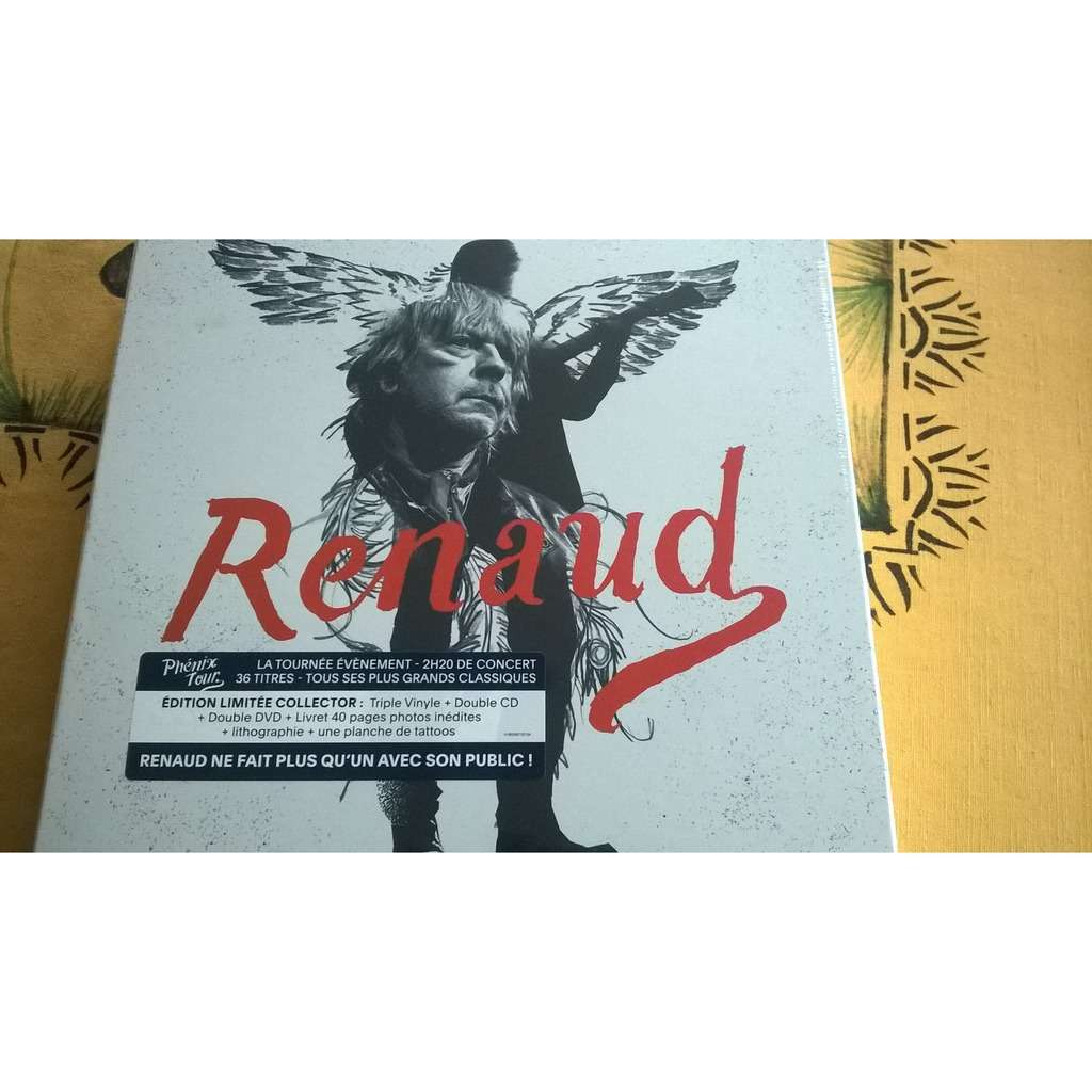 renaud (3 vinyles, 2 cd, 2 dvd) phénix tour
