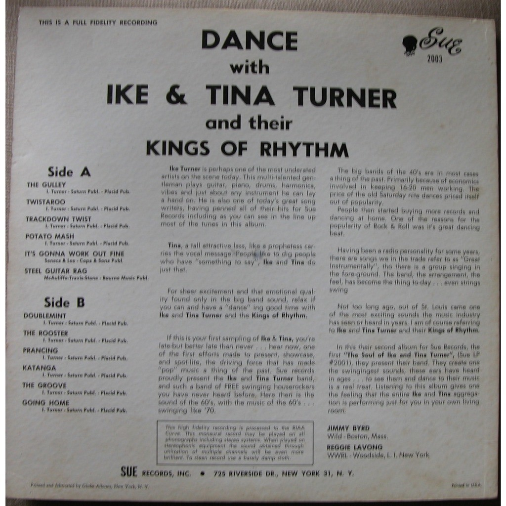 IKE & TINA TURNER kings of rhythm dance