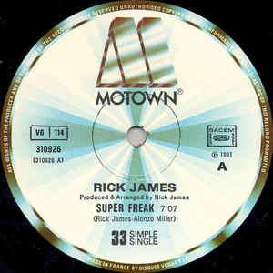 Rick James Super Freak / Below The Funk