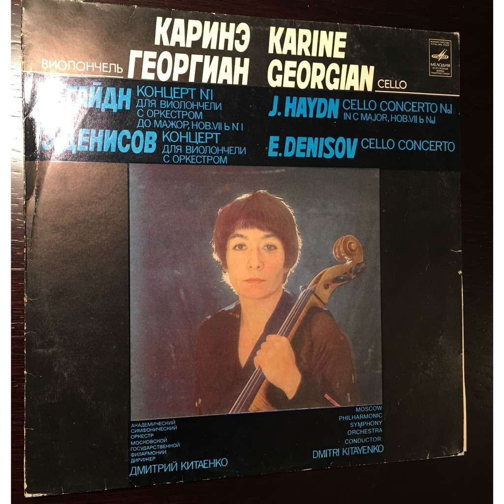 Karine Georgian, Cello & D.Kitaenko Conductor Haydn Cello Concerto # 1 in C Major, Hob VII b No1; Edison Denisov Cello Concerto Op.1972