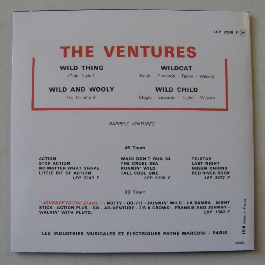 THE VENTURES WILD THING +3