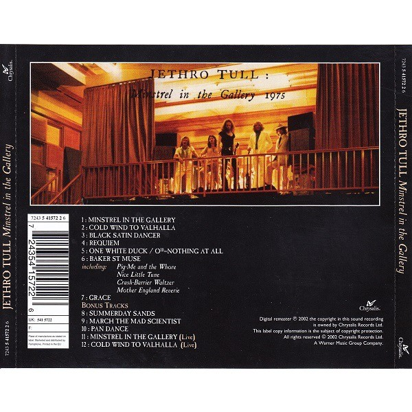 Jethro Tull Minstrel In The Gallery (incl. 5 bonuses)