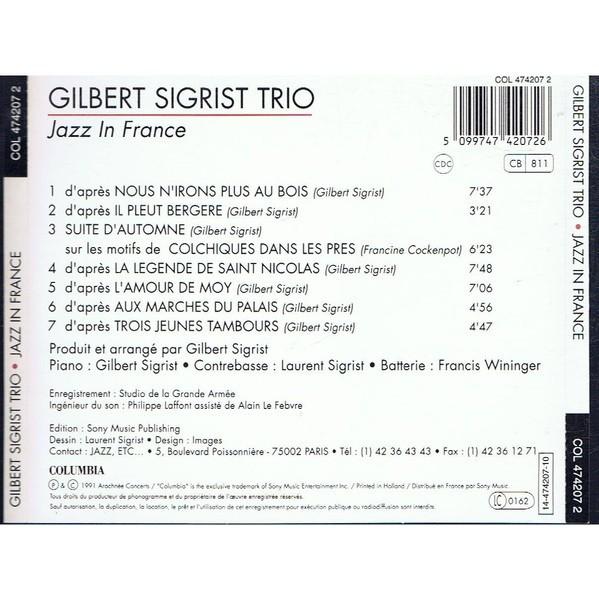 Gilbert Sigrist Trio Jazz In France