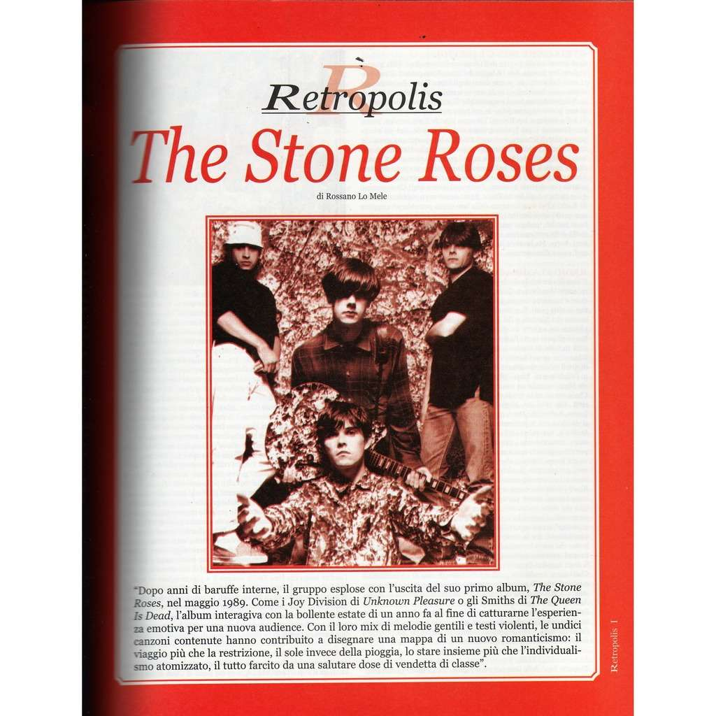 The Stone Roses Rumore (N.131 Dec. 2002) (Italian 2002 music magazine!!)