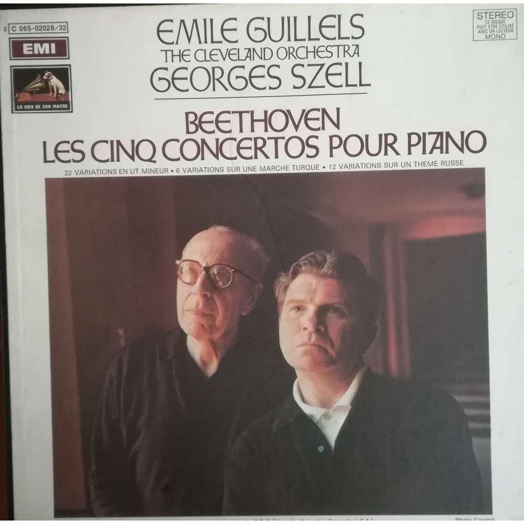 L.V. BEETHOVEN / Emile Guillels Georges Szell Les cinq concertos pour piano