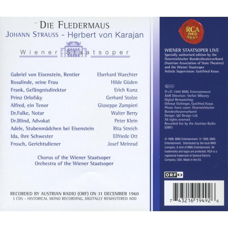 Strauss, Johann Il Die Fledermaus / Herbert von Karajan, Hilde Güden