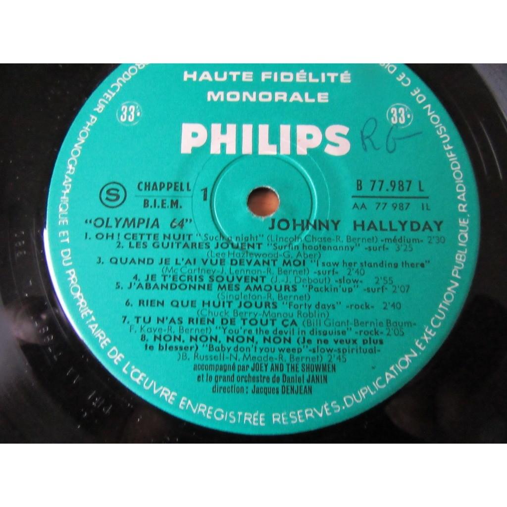 JOHNNY HALLYDAY OLYMPIA 64.