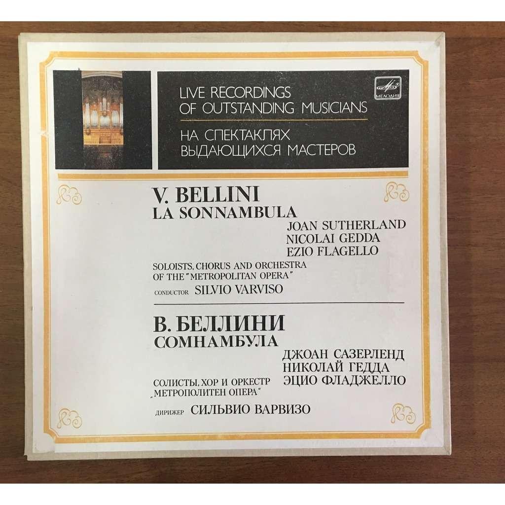 Silvio Varviso, Conductor Bellini La Sonnambula Opera Sutherland, Gedda, Flagello 3 LP Box Set