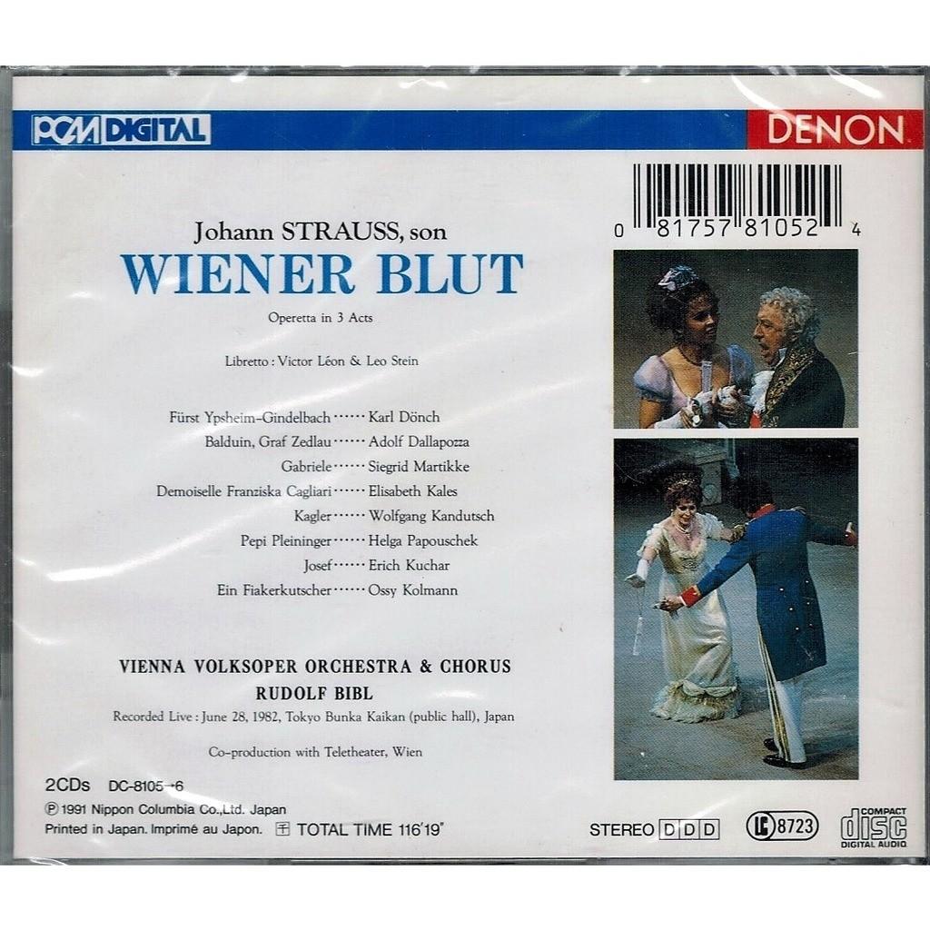Strauss, Johann Il Wiener Blut / Rudolph Bibl