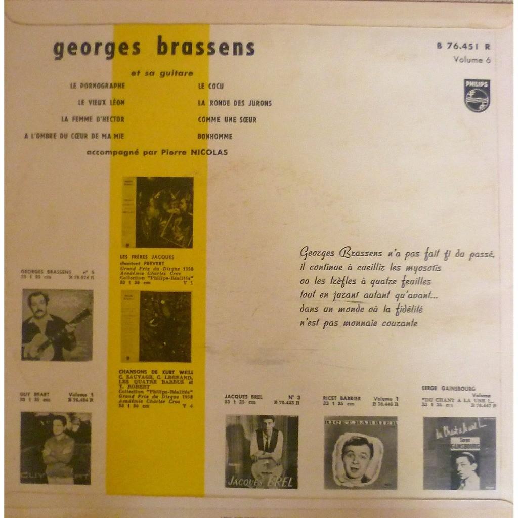 georges brassens volume 6 Le Pornographe