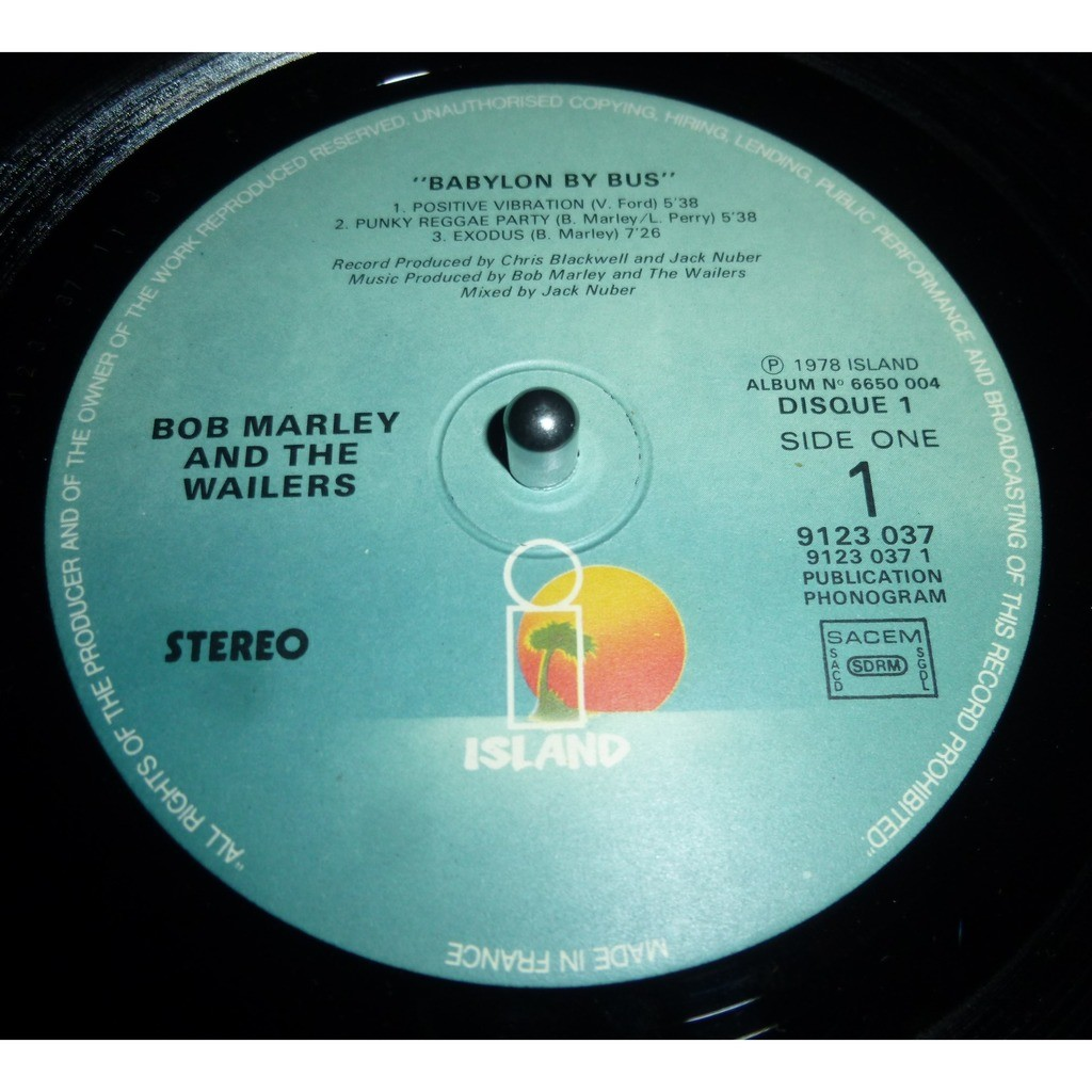 bob marley & the wailers BABYLON BY BUS