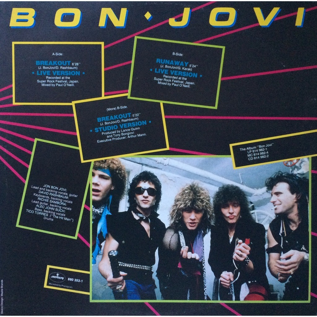 BON JOVI - LIVE (DUTCH PRESSING 3 TRK 12 MAXI-SINGLE)