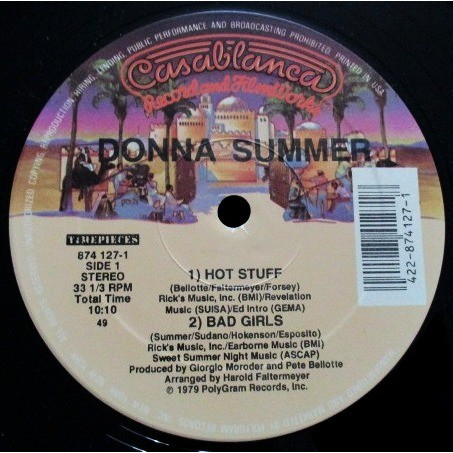 Donna Summer HOT STUFF / BAD GIRLS / I FEEL LOVE (VOCAL 8'14) USA (MAXIBOXLP)