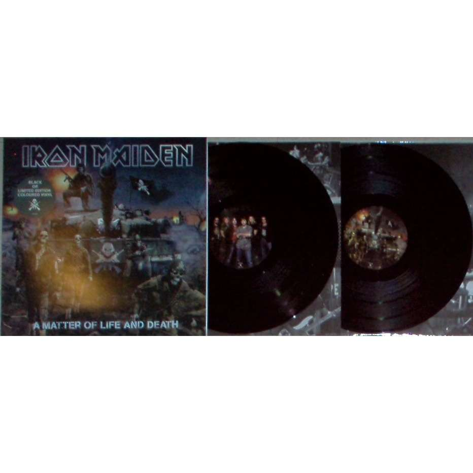 Iron maiden A Matter Of Life And Death (Euro Ltd re 10-trk 2LP set black wax gf ps & inner slvs)