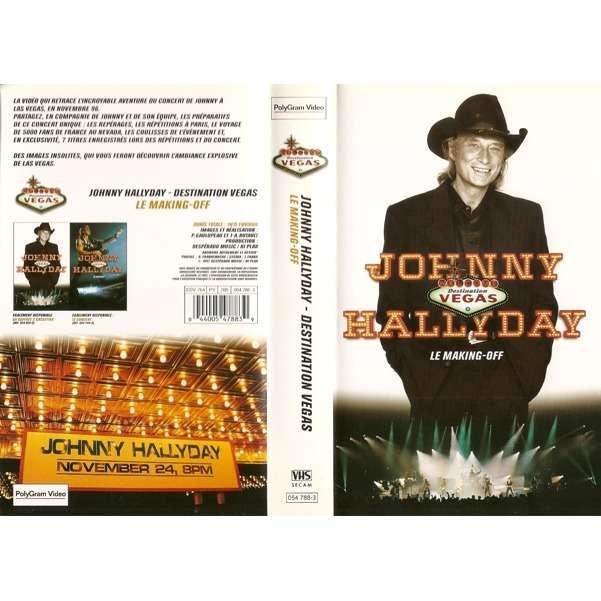 johnny hallyday 1 VHS destination vegas making off (france)