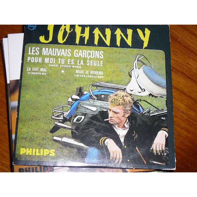 johnny hallyday 1 EP 45 france 1965 les mauvais garçons