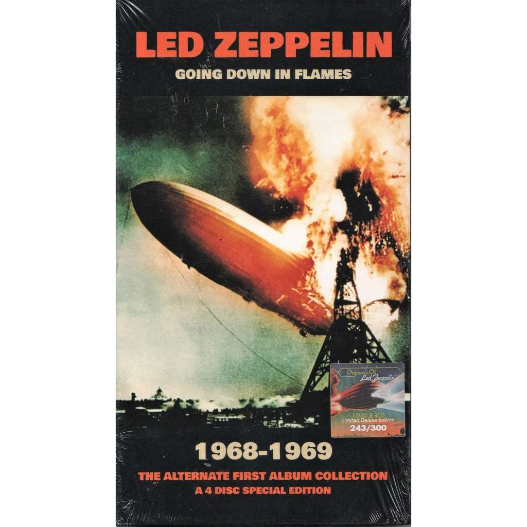 going down in flames 1968 1969 alternate first album collection by led zeppelin cd x 4 with. Black Bedroom Furniture Sets. Home Design Ideas