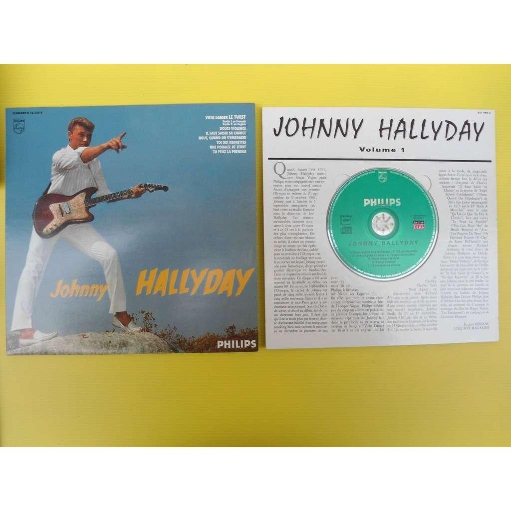 johnny hallyday 1 cd 25 cm 10 picture sleeve volume 1 viens danser le twist