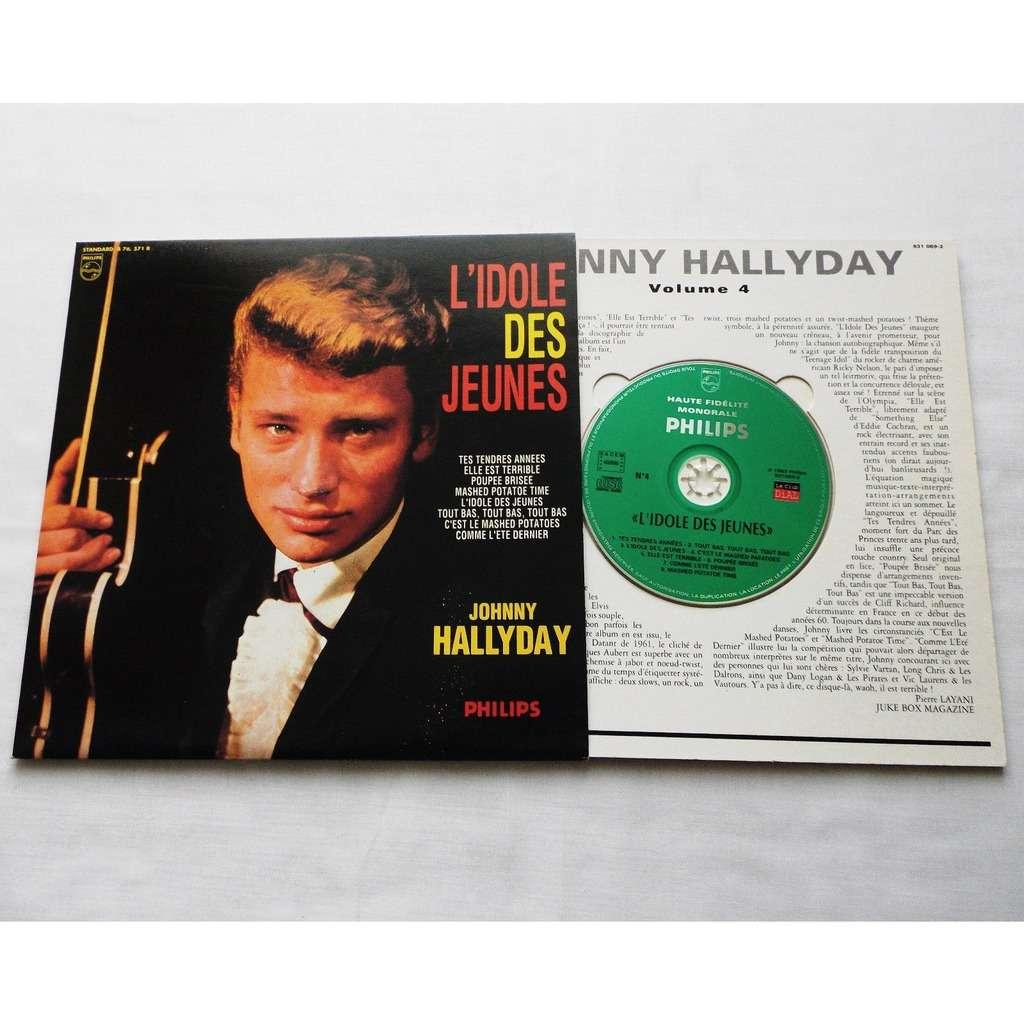johnny hallyday 1 cd 25 cm france 1996 l'idole des jeunes