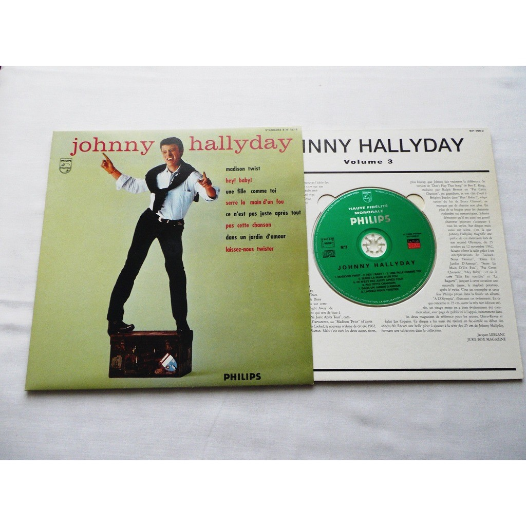 johnny hallyday 1 cd 25 cm picture sleeve madison twist france 1996