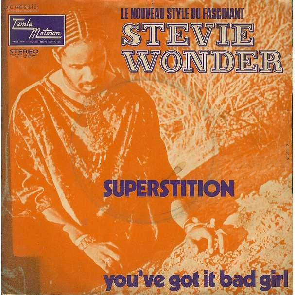 Stevie WONDER Superstition (original French press - 1972)