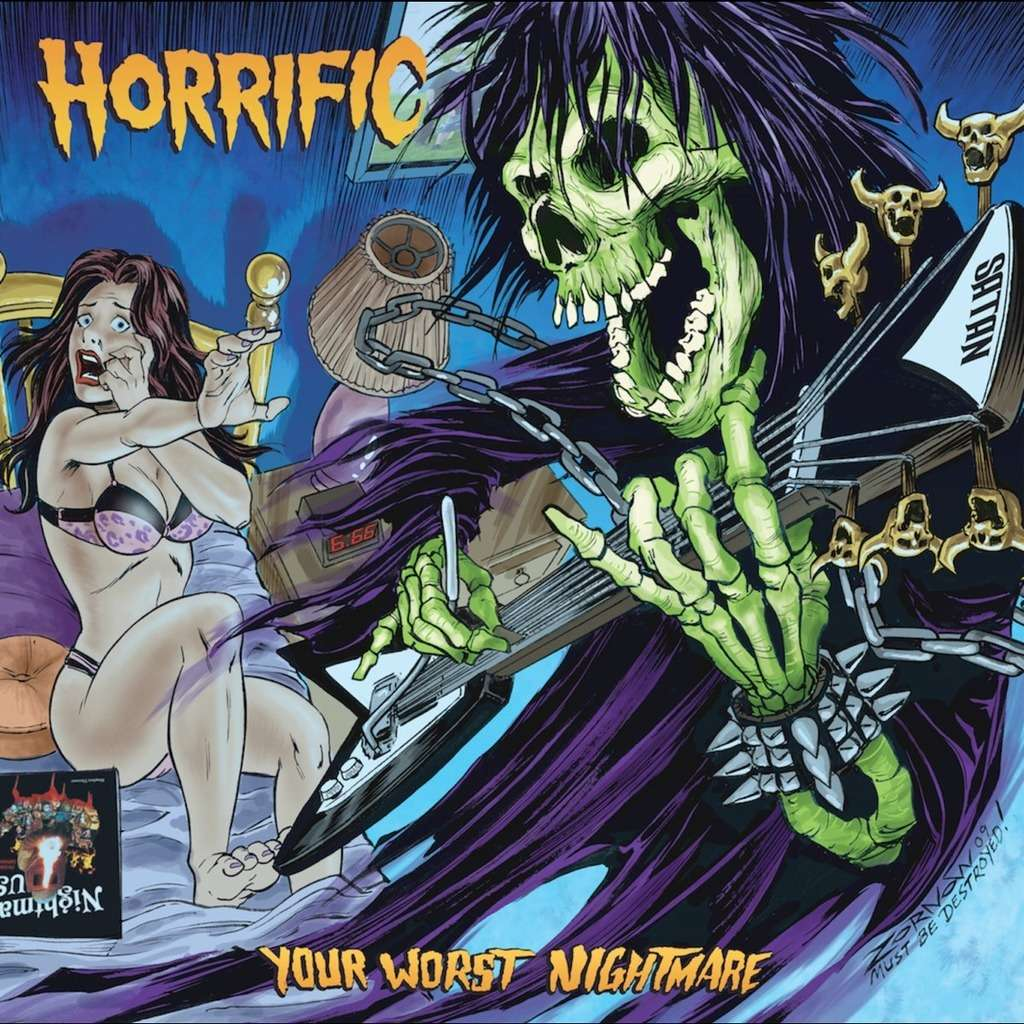 HORRIFIC (Acid Witch) Your Worst Nightmare. Black Vinyl