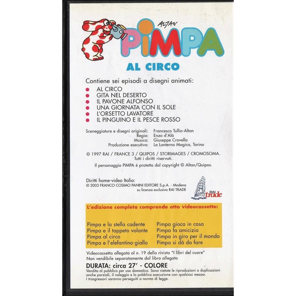 Altan Pimpa Al Circo (Italian 2003 promo Video VHS great full ps)