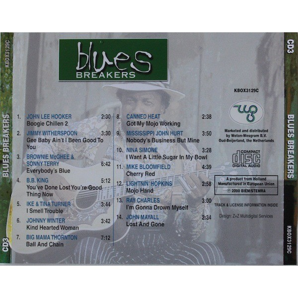 VARIOUS BLUES ARTISTS - BLUES BREAKERS CD 3 (DUTCH PRESSING 1 CD)