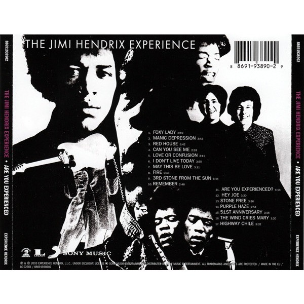 Jimi Hendrix Experience Are You Experienced