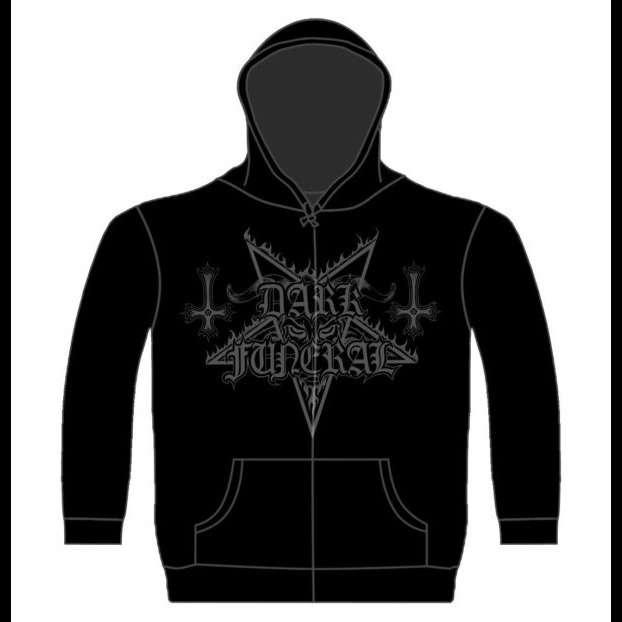 DARK FUNERAL Dark Funeral Logo. Hooded Sweat Zip