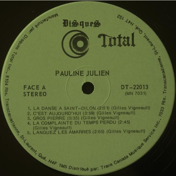 JULIEN,PAULINE POUR MON PLAISIR...GILLES VIGNEAULT