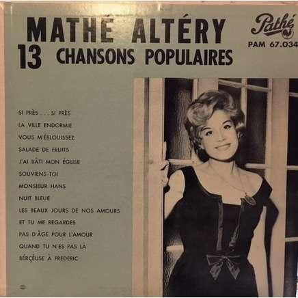 mathé altéry 13 chansons populaires